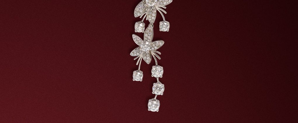 Diamond Jasmine de Nuit Diamond Pendant