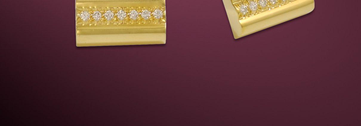 18K Gold and Diamond Cufflinks
