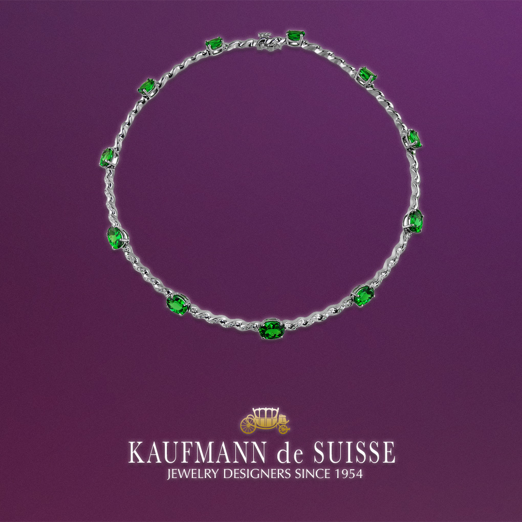 Tsavorite & Diamond Necklace