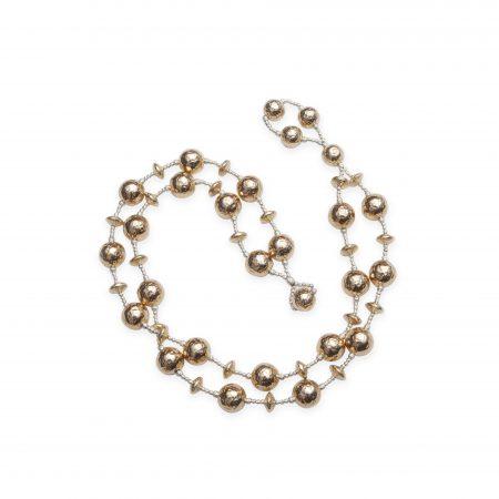 14KT Gold Bead Wrap Bracelet