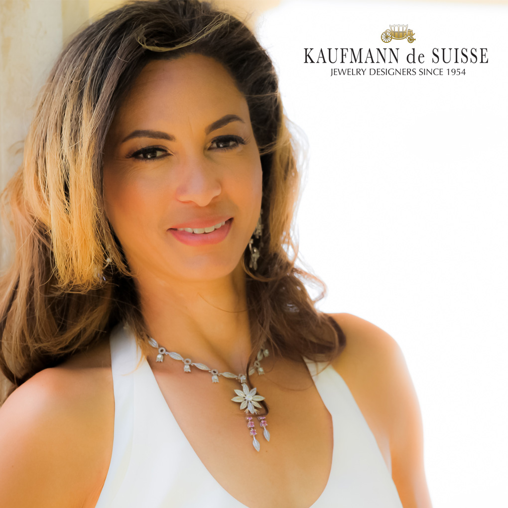 18K Diamond and Pink Sapphire Jasmine Necklace